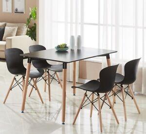 Tavoli Da Pranzo Grandi.Alessia Dining Set 4 X Alessia Eiffel Chairs Black Halo Dining
