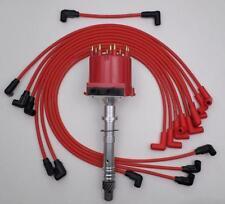 1987-1994 CHEVY BLAZER GMC JIMMY 5.7L 350 TBI DISTRIBUTOR & RED SPARK PLUG WIRES