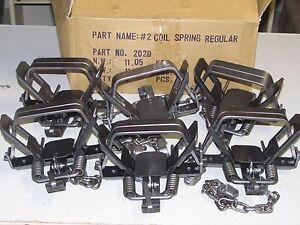 6 Bridger #2 coilspring 2 CoilSpring Foothold Traps Coyote Fox Trapping new sale