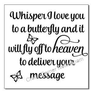 vinyl decal sticker Ikea frame size  Whisper I Love You to a butterfly and it - <span itemprop=availableAtOrFrom>Nottingham, United Kingdom</span> - vinyl decal sticker Ikea frame size  Whisper I Love You to a butterfly and it - Nottingham, United Kingdom