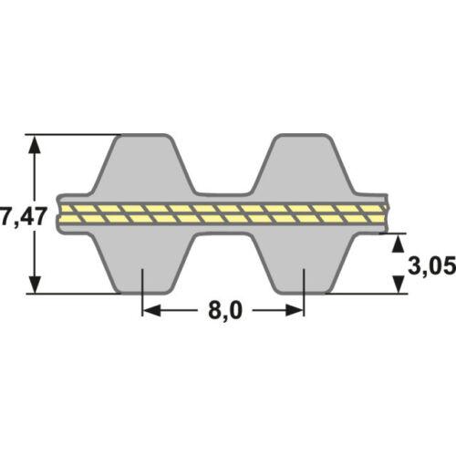 20 mm de ancho Doble diente correa 1760 ds8m 20-doble una