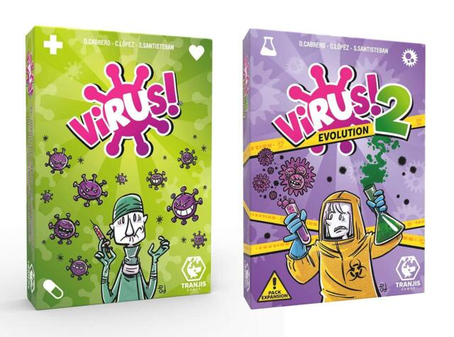 Pack Juego de Cartas Virus + Expansión Virus 2 Evolution. Edición Española.