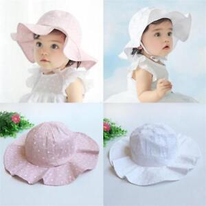 eeaf223ed Details about Cotton Sun Cap Summer Breathable Baby Girl Boy Beach Hat Suit  For 1-4 Years Kids