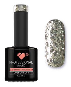 288-VB-Line-Transparent-Silver-Glitter-UV-LED-soak-off-gel-nail-polish