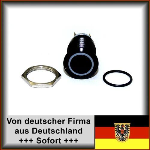 Vandalensicher mit Dichtung+Mutter Edelstahl Hupe SW Taster 22mm LED rot