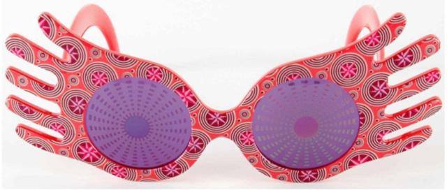 Harry Potter Luna Lovegood Spectrespecs Sunglasses Costume Accessory