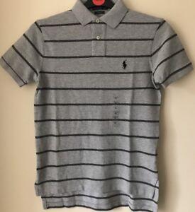 BNWT-Polo-Ralph-Lauren-Para-Hombre-Custom-Fit-Camisa-Polo-de-una-raya-Polo-Top-Xsmall