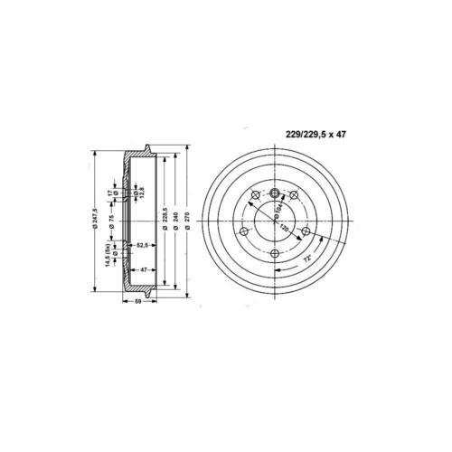 Bremstrommel Hinterachse 2 Stück