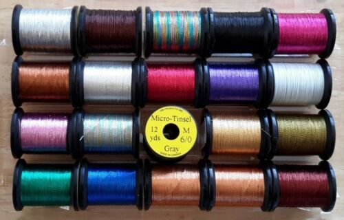 Fly Fishing Tinsel Fly Tying Store Uni-Micro Tinsel Combo Craft Thread.