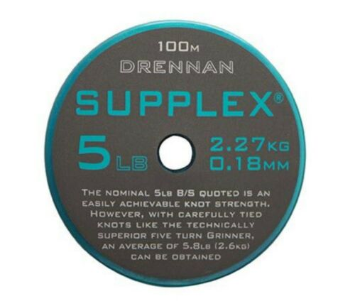 100m Drennan SUPPLEX Vorfachschnur Feeder Match Weissfischangeln 0,16mm