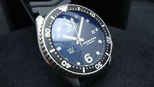 Vintage Seiko divers 7002 Auto MEGA MOD SCUBAPRO BLUE TINT SAPPHIRE Watch K60