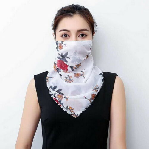 Women Chiffon Face Cover Neck Tube Scarf Shield Summer Outdoor Multi-use Bandana
