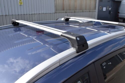 Suzuki Vitara en adelante 2015 Bloqueable Rack 75 kg barra transversal de Aluminio Gris