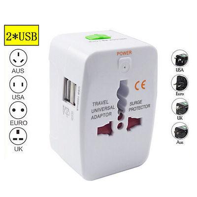 Global Universal Multifunktions Adapter Stecker Dual USB Charging Reiseladegerät