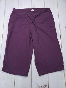 Women-s-Lane-Bryant-VENEZIA-Purple-Capri-Cropped-Pants-Plus-Size-18-Inseam-19