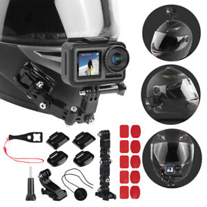 For OSMO Action Camera Motorcycle Helmet Chin Bracket Turntable Button Mount Cam