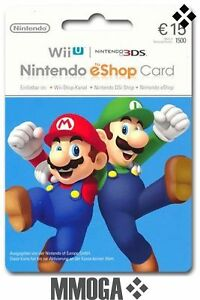 Nintendo-eShop-Card-15-Euro-per-E-Mail-Versand-Nintendo-eShop-Key-15