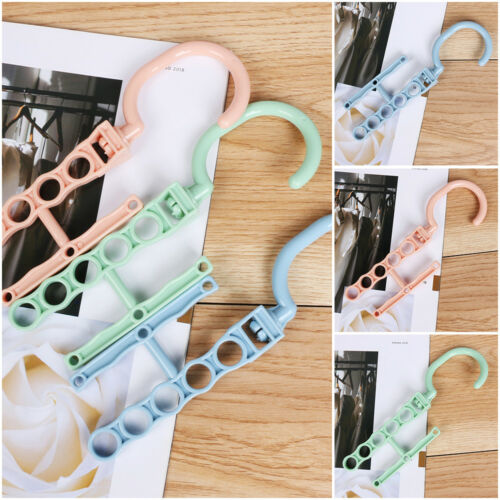Clothes Rack Household Plastic Fixed Buckle Hook Magic Multilayer Hanger~