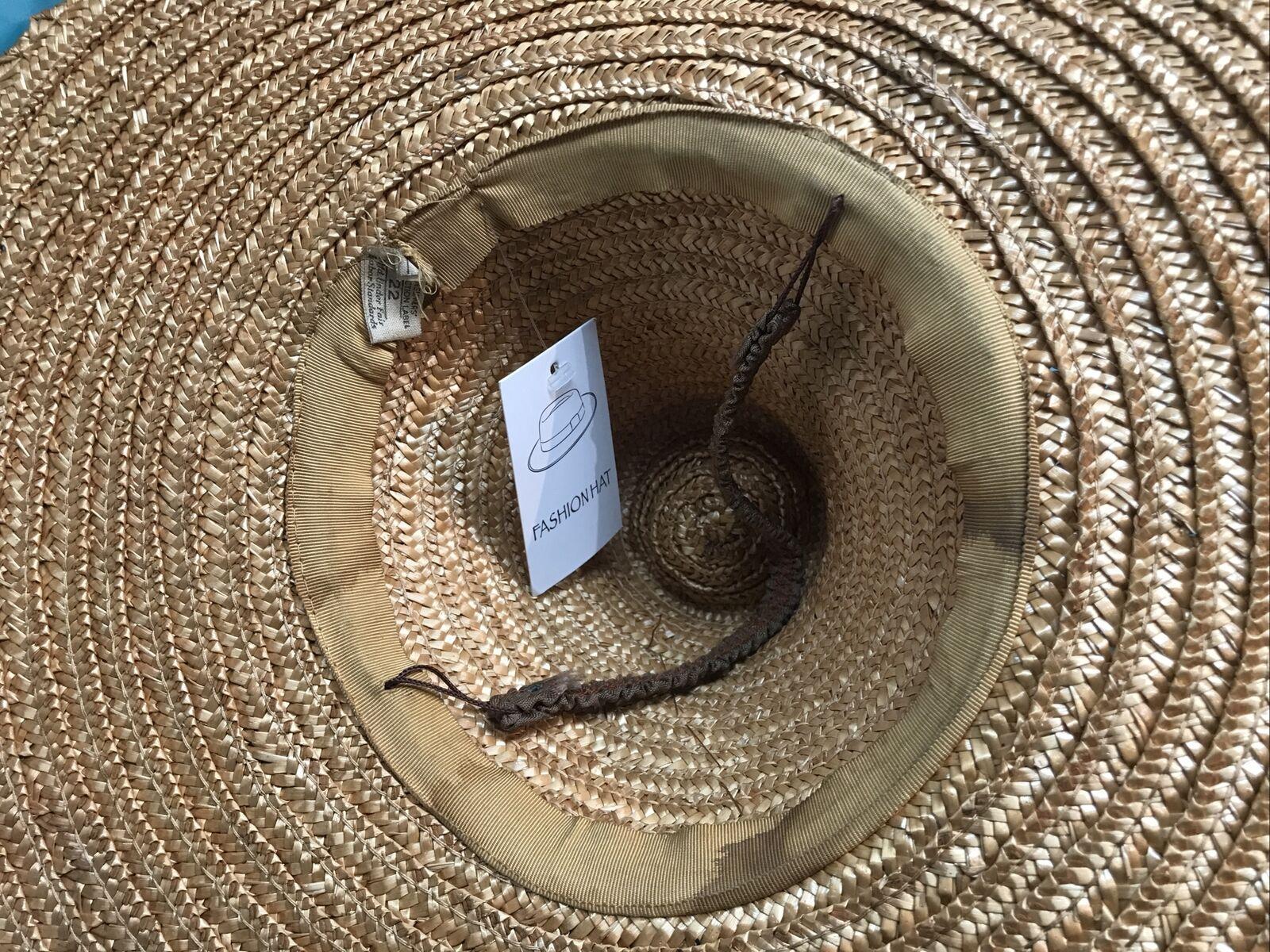 vintage straw hat 1930s 1940s 40s Tilt Wide Brim … - image 5