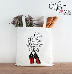 RIGHT-SHOES-MARILYN-MONROE-QUOTE-TOTE-SHOPPER-SHOPPING-BAG-PERSONALISED