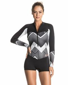 NEW ROXY™ Womens Pop Surf 2mm GBS Front Zip Long Sleeve Springsuit ... 667446964