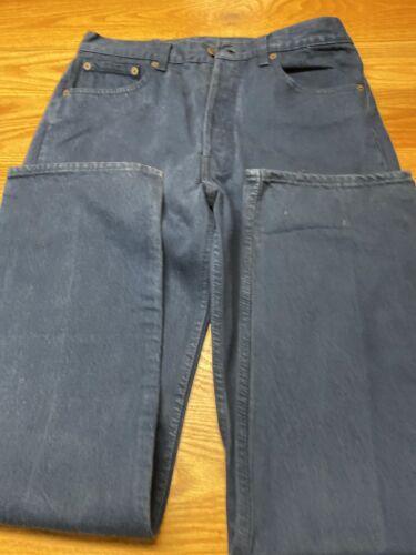 Vintage Men's blue LEVIS 501 Pants made in USA 50… - image 1