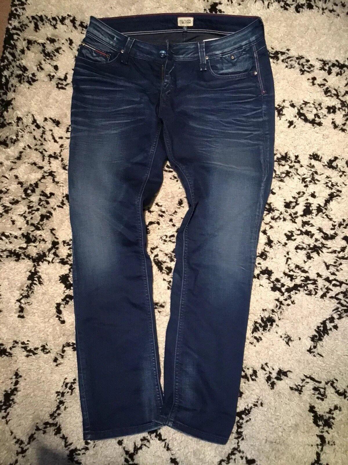 bluee Hilfiger Denim Suzzy Straight Leg Jeans - UK Size 31 30