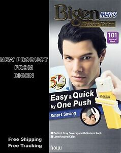 Bigen Men Hair Color Black Natural 101 Permanent Easy and Quick by ...