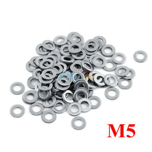 100PCS Stainless Steel Washers Metric Flat Washer Screw Kit M3 M4 M5 M6 M8/_ju