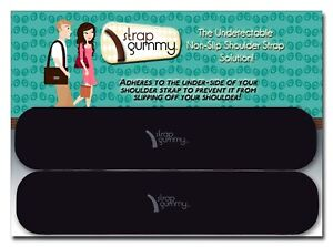 Strap Gummy® - Non Slip Shoulder Strap Grip Strip Pads LARGE - SET of 4 PIECES