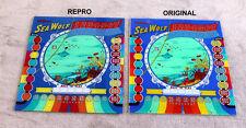 Williams 1959 SEA WOLF Pinball Machine Replacement BACKGLASS GREAT ART