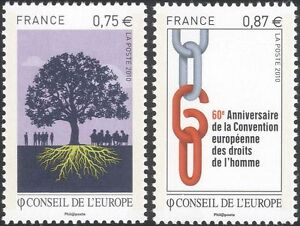 France-Council-of-Europe-2010-Human-Rights-60th-Tree-Chain-2v-set-n45920