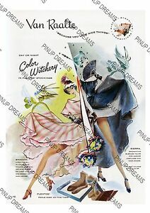 Art re-print Poster Vintage Van Raalte Nylon Stockings Advert various sizes
