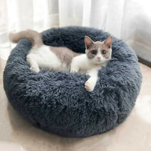 Dog-Round-Cat-Winter-Warm-Sleeping-Bag-Long-Plush-Soft-Pet-Bed-Calming-Bed