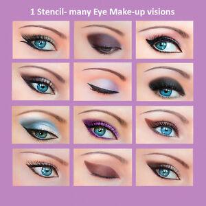 3-Set-Quick-Makeup-Stencils-12-Eyeliner-Stickies-Eye-Shadow-Eyebrow-ORIGINAL-ES1