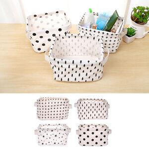 Desktop-Debris-Basket-Storage-Box-Small-Cloth-Cloth-Storage-Compartment-w-Handle