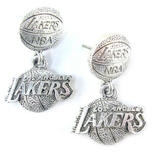 NBA-Earrings-Los-Angeles-Lakers-Silver-Jewelry-New