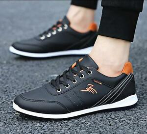 New Men's leather Shoes Fashion Breathable Casual shoes Sneakers sports shoes