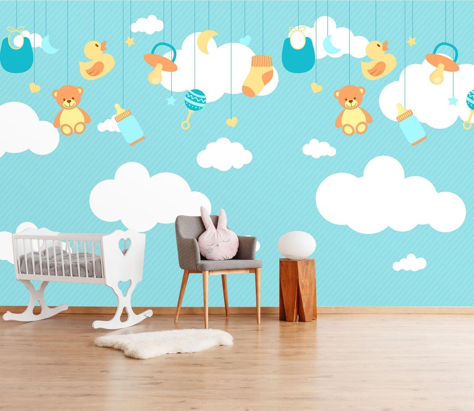 3D Clouds Unicorn  7050 Wallpaper Mural Paper Wall Print Indoor Murals CA Summer