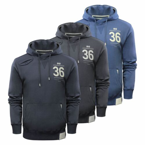 Mens Hoodie Crosshatch Sunbirds Cotton Hooded Pull Over Sweater