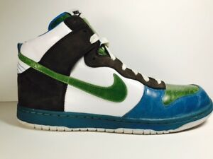 Details about Nike High Tops Air Force One Men's 15 Blue Green Gray White 316142 431
