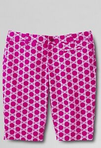 Lands End Bermuda Shorts Toddler Girls Size 3t Blue White Adjustable 100% Cotton Girls' Clothing (newborn-5t) Baby & Toddler Clothing