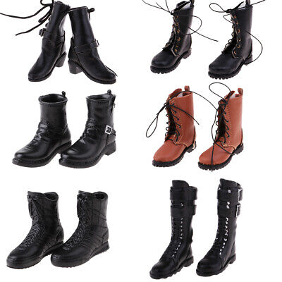 1//6 Scale Vintage Styled Boots for 12inch Male Sideshow DID Action Figure