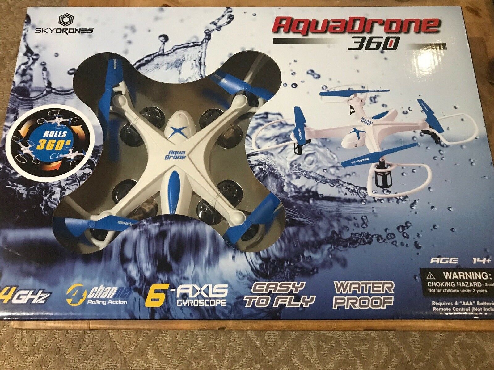 Aqua Drone 2.4 GHZ Waterproof RC QuadCopter, Remote Control Water Water Water proof New 50071b