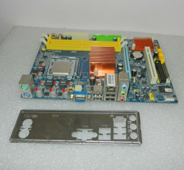 J&W Motherboard JW-IG41M-L3 LGA775 + I/O Plate + C2 Duo E7500 CPU