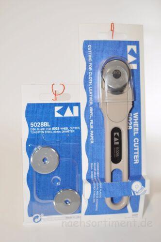 Rollmesser 28mm von Kai 5028 Cutter 2 Ersatzmesser Rollschneider