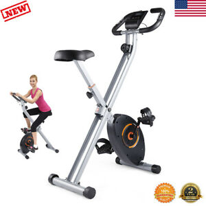 Folding Stationary Exercise Bike Magnetic Indoor Cycling Cardio Home Gym Workout