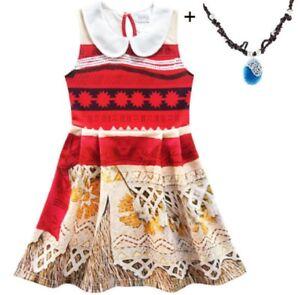 Suivi Des Vols Bourse Américaine Belle Filles Moana Sans Manches Partie Vacances Anniversaire Robe Costume O67-afficher Le Titre D'origine