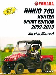 2009 2013 Yamaha Yxr700 Rhino Side X Side Service Manual Lit 11616 Rh 70 Ebay