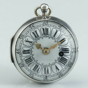 Baillon-a-Paris-1710-Oignon-mit-Silbergehaeuse-Uhrmacher-von-Marie-Antoinette
